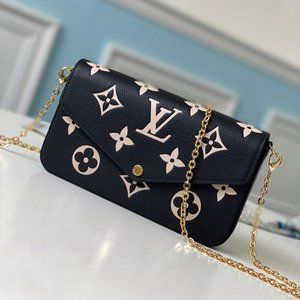Ŀọụiṣ Ṿụiṭṭọṇ Felicie Pochette Black Bag
